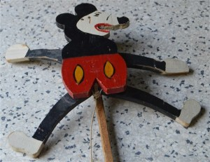 oude mickey mouse trekpop 20914b
